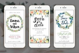 Design Digital Wedding Invitation Birthday Save The Date