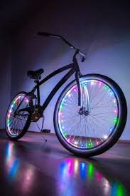 Lights On Wheels Of A Bicycle Led Bike Wheel Lights Set For Two Wheels