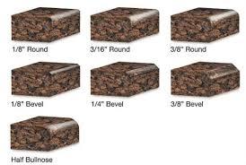granite countertops basic edges