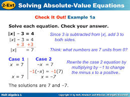 example 1a solve each equation check your answer x