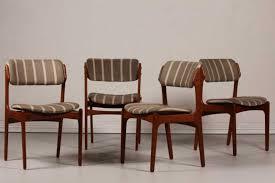 erik buch for oddense maskinsnedkeri a s set of 4 dining chairs od 49 teak fabric