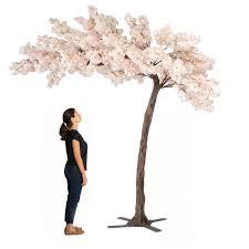 Fake Cherry Blossom Tree With Lights 11 Feet Tall Grand Arch Fake Cherry Blossom Tree Blush