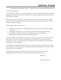 office assistant cover letter brilliant ideas of best office assistant cover letter examples in
