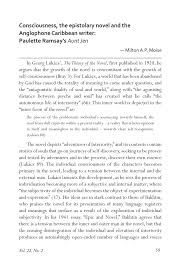 consciousness the epistolary novel and the anglophone caribbean  consciousness the epistolary novel and the anglophone caribbean writer paulette ramsay s aunt jen pdf available