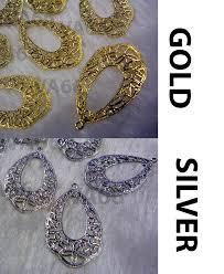 diy gold silver filigree chandelier earrings hoops findings teardrop
