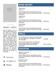 Microsoft Word Template Resume Resume Templates