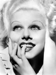 with light hair and skin jean harlow relied on dark makeup to give her face contrast she s famous for her drawn in eyebrows