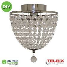 grace chrome and clear acrylic prisms diy batten fix lighting illusions