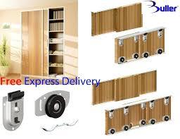 diy sliding door wardrobe ares sliding wardrobe door track kit for bottom rolled for doors up