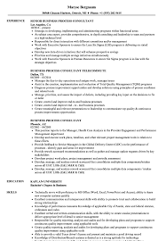 Six Sigma Consultant Resume Examples Templates Business Processs