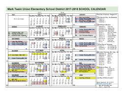 School Calendar School Calendar Calendar 17