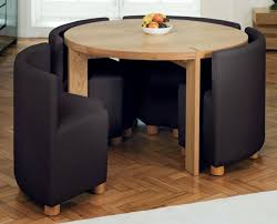 apartment size table and chairs awesome architecture small round dining in brown black within 4