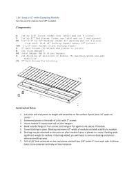 here s construction instructions to build a 116 long x 42 wide wheelchair ramp module