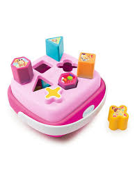 Cotoons <b>Сортер</b>-корзинка, розовый, 18,8x19,2x9,6 см <b>Smoby</b> ...