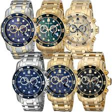 invicta pro diver s chronograph swiss parts 18k stainless zoom