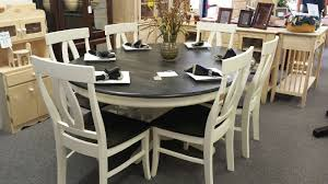our six piece dining room set finished in general finishes antique white milk paint and black gel stain stunningly beautiful also a pine corner cabinet