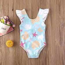 Vỏ Bé Gái Sơ Sinh Trẻ Mới Biết Đi, Đồ Bơi In Họa Tiết Bộ Đồ Tắm Đi Biển  Bikini, 0-3T | Đồ bơi bé trai