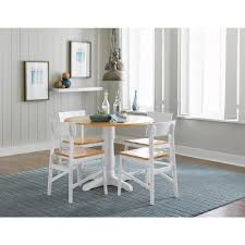 Progressive Furniture Christy Light Oakwhite Complete Round Dining