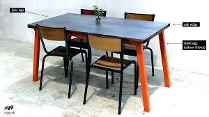 zinc top round dining table zinc top dining table table zinc top wood edge zinc top