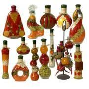 Decorative Oil Jars Decorative Oil infused bottles Kitchen decor I need to find a 2