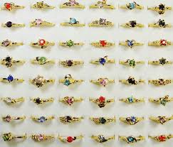 <b>20pcs Wholesale</b> Ring <b>Bulk Lots</b> Jewelry Fashion Gold <b>Color</b> ...