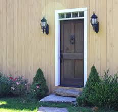 barn style front doorFront Door Material Choices for the Timber Frame Home  Timberpeg