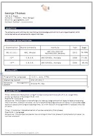 be cse fresher resume format 28 resume templates for freshers