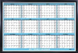 2017 Yearly Wall Calendar, 12 month horizontal planning at-a-glance