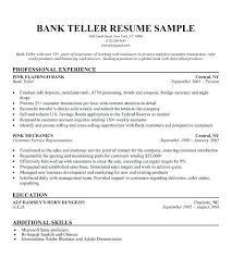 Bank Teller Resume Examples Stunning Bank Resume Template Experience Bank Teller Resume Template World