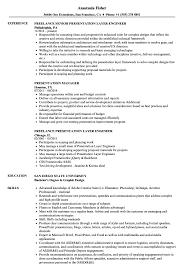Presentation Resume Samples Velvet Jobs