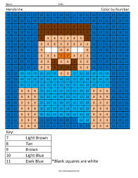 Free printable key coloring pages. Herobrine Color By Number Coloring Squared