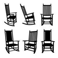 rocking chair silhouette. Baby High Chair Eating; Front Porch Rocking Chairs Silhouette