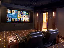 enchanting home theater design and installation with modern home