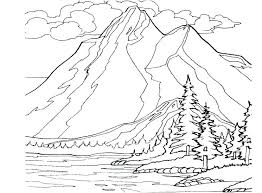 coloring pages of mountains page cougar puma mountain lion a print landscapes m