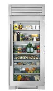 36 glass door refrigerator column