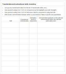 a list of skills skills inventory template 6 free word excel pdf documents