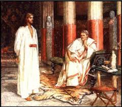 Image result for pictures of Jesus being questioned