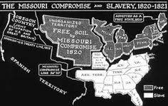 missouri compromise of draws a line thru the eastern half of  missouri compromise of 1820 admitted missouri as a slave state admitted maine as a