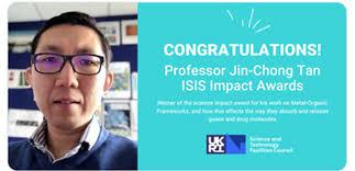 Professor Tan wins ISIS Science Impact Award