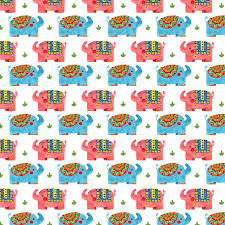 Elephant Pattern Inspiration The Elephant Pattern Haidi Shabrina Illustration