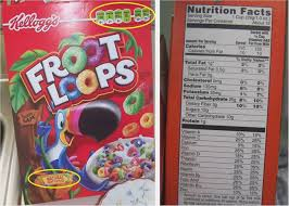 fruit loops food label world of label fruit loops nutrition facts label