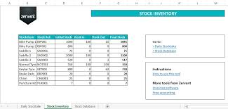inventory software in excel free inventory and stock management tool in excel zervant blog