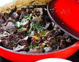beef stew with wild mushrooms