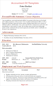 resume for an accountant accountant cv template tips and download cv plaza
