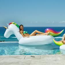 inflatable pool furniture. Giant Rainbow Unicorn Inflatable Pool Furniture A