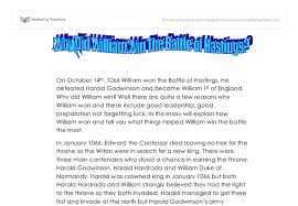 battle of hastings gcse history marked by teachers com document image preview