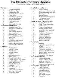 Printable Packing Lists Traveling Chic Travel Checklist Template