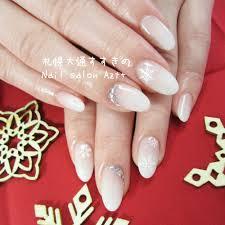 上品でシンプルな白グラデーション Nail Salon Azt