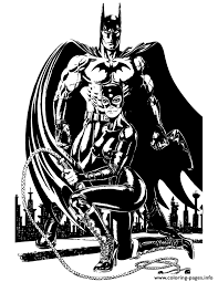 Small Picture batman and catwoman for teenagers Coloring pages Printable