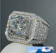 2021 mens ring hip hop jewelry zircon